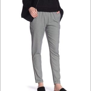 KENNETH COLE NY Houndstooth Trim Stripe Pants